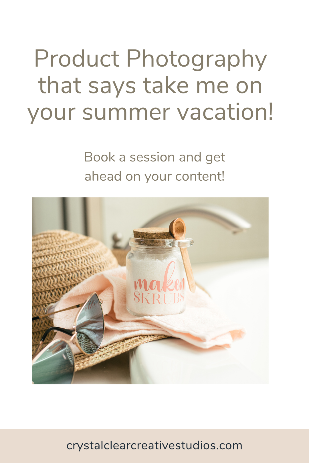 Product photography that says take me on your summer vacation!