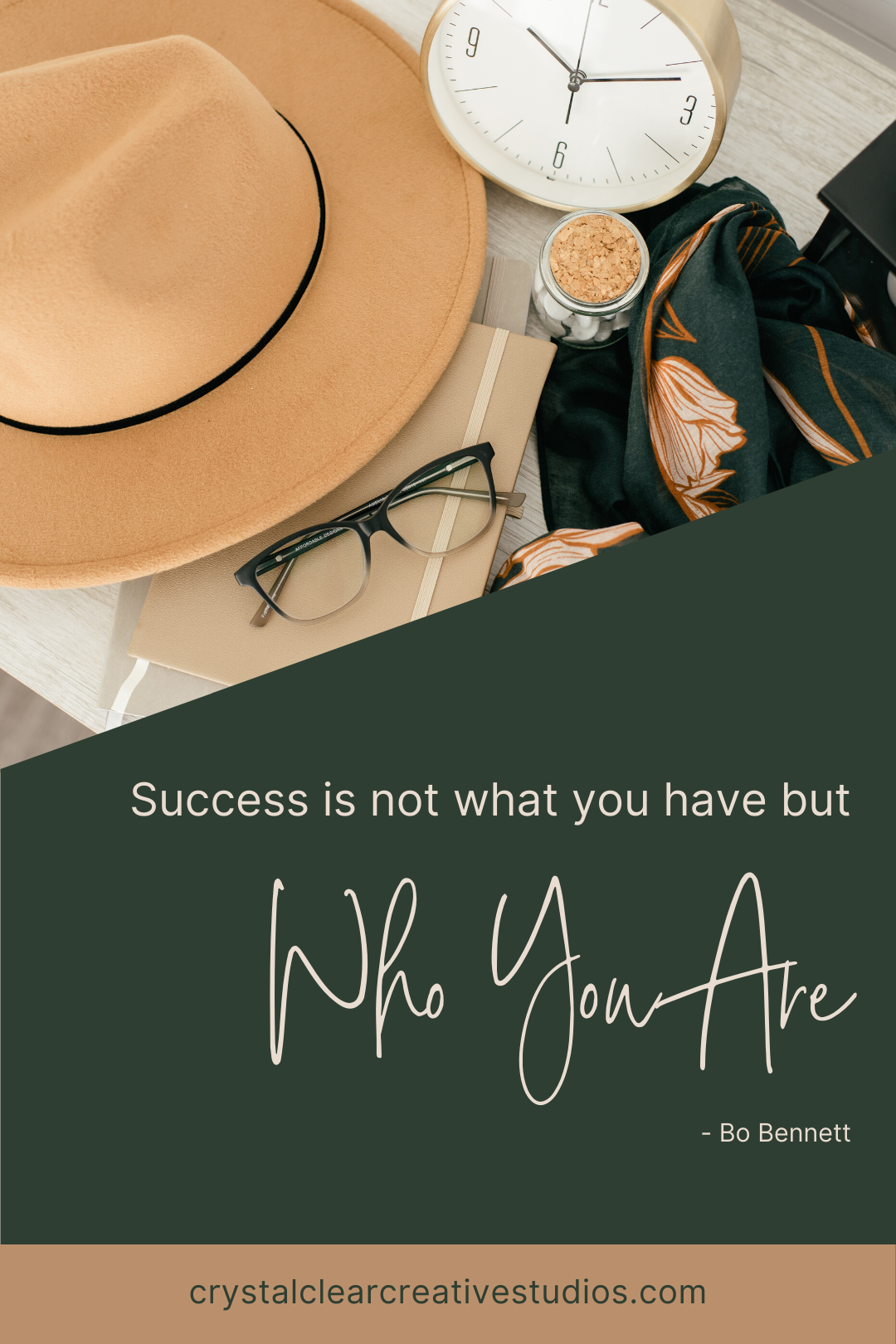 Success is not what you have but who you are.