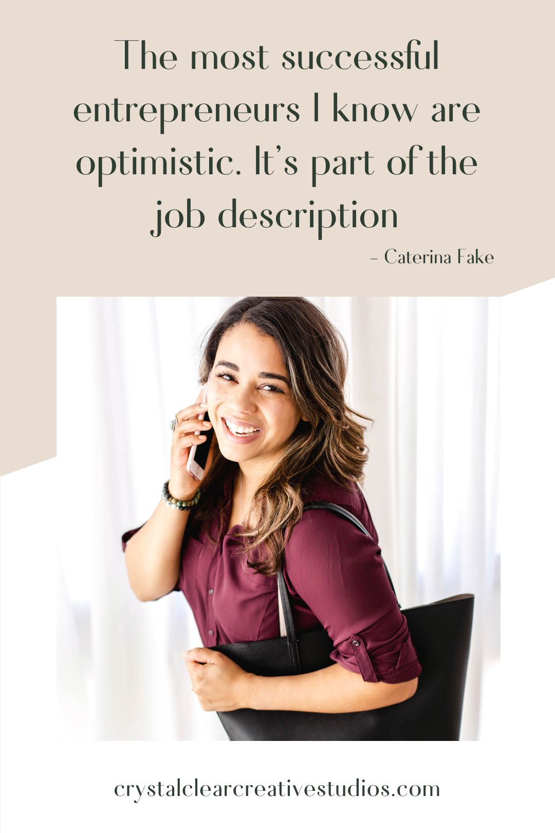 The most successful entrepreneurs I know are optimistic. It's part of the job description.