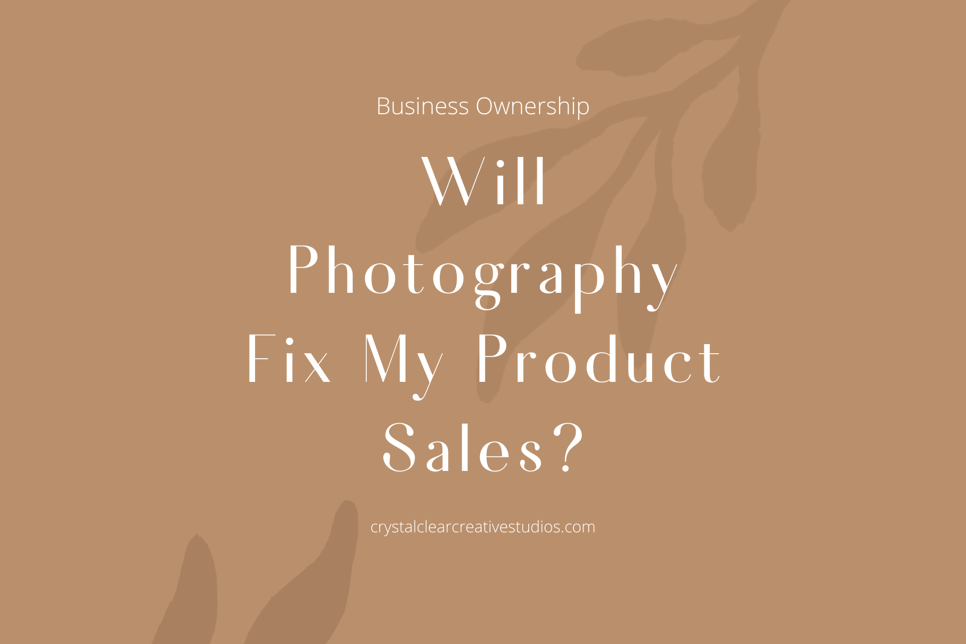 Common Myth – Photography Will Fix My Product Sales