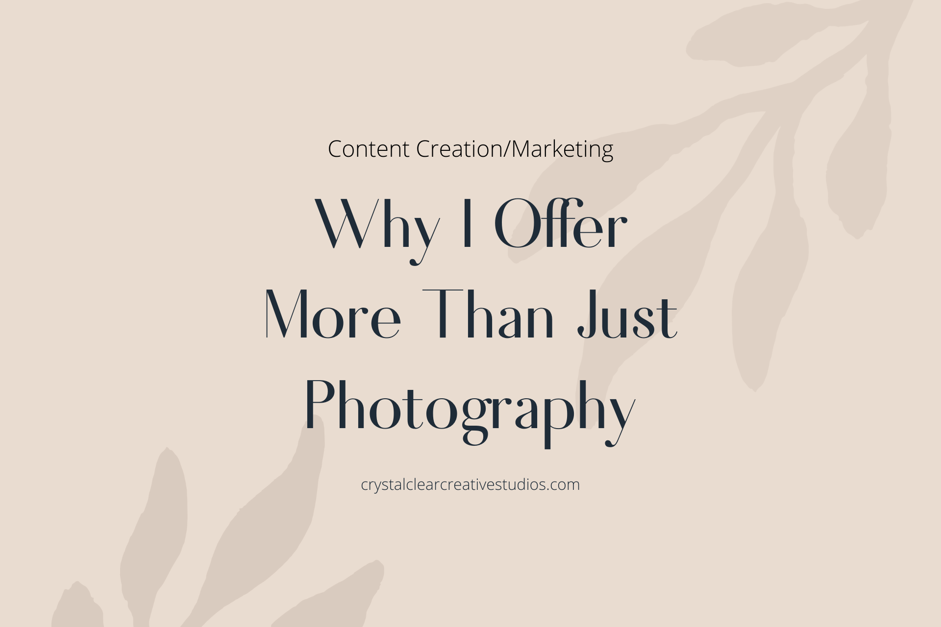 Why I Offer More Than Just Photography