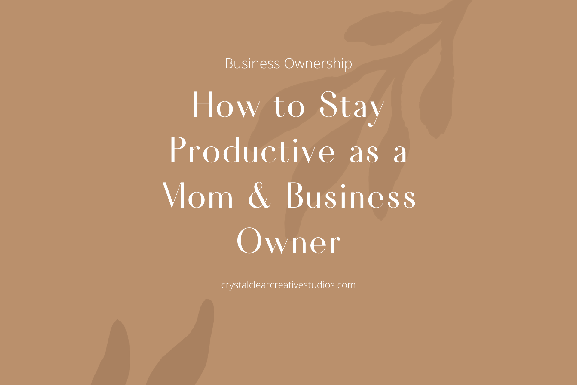 How to Stay Productive as a Mom and Business Owner