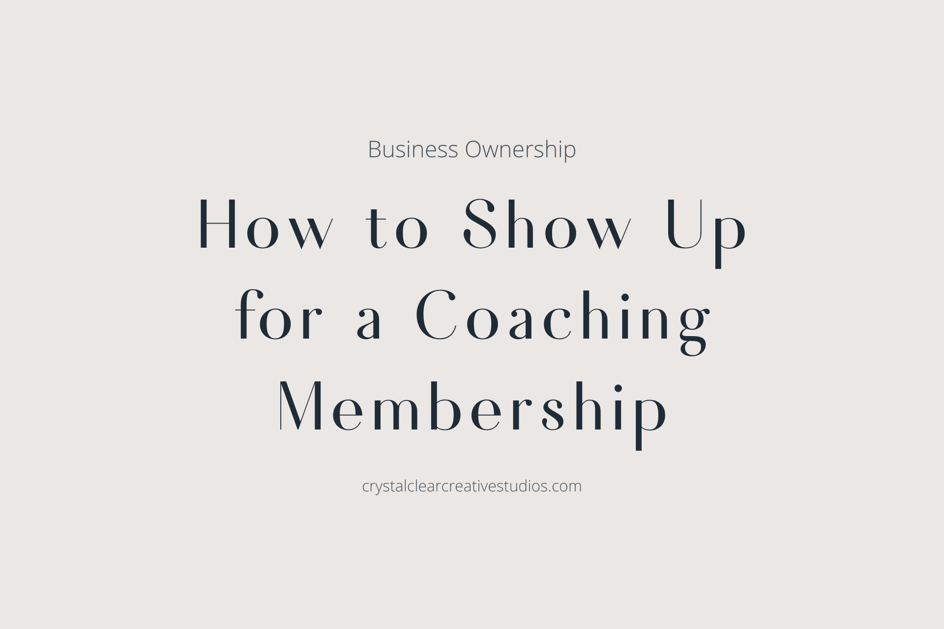How to Show Up for a Coaching Membership