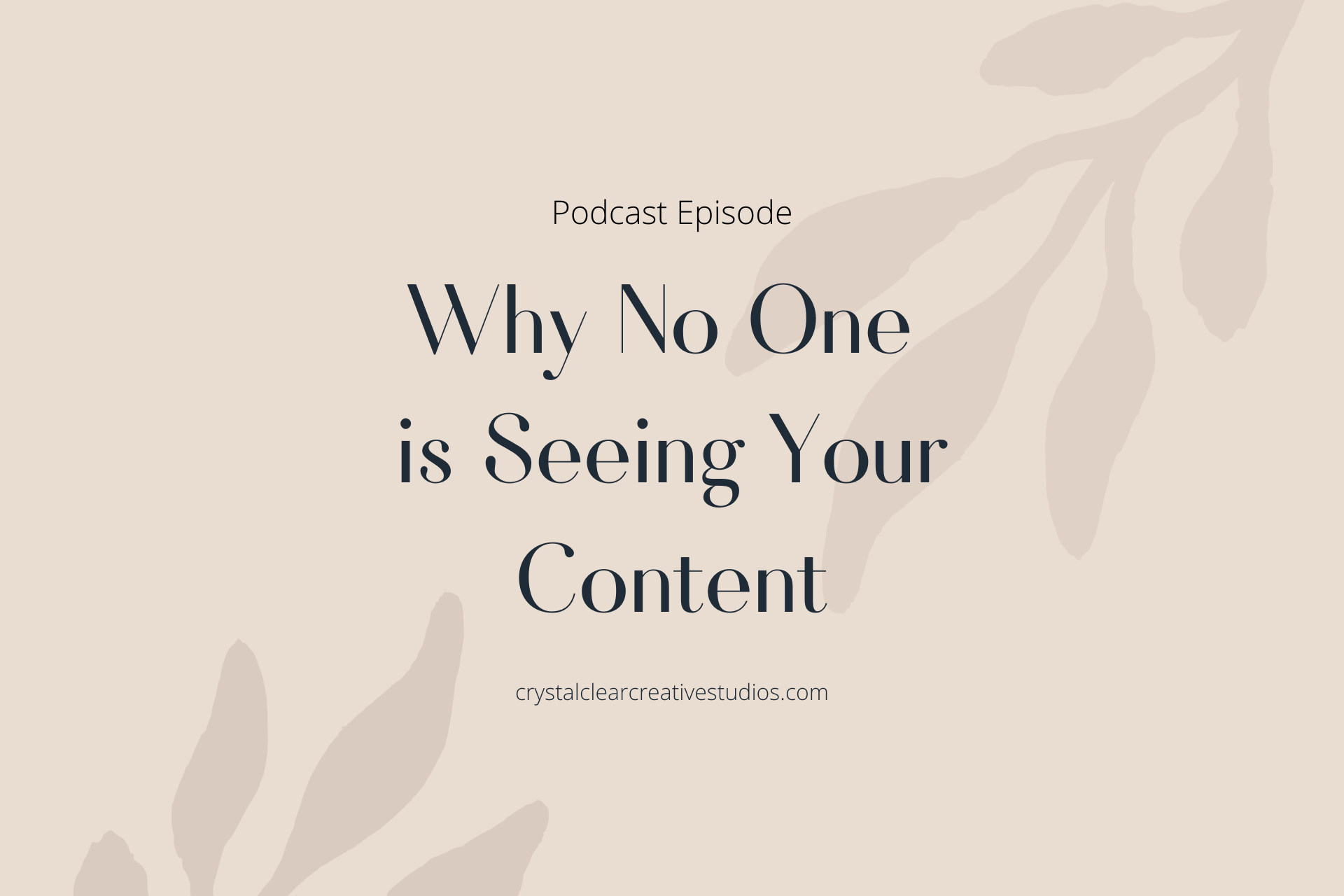 Why No One Is Seeing Your Content & How to Fix it!
